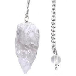 Pendule Brut en Cristal de Roche