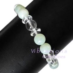 Bracelet en Cristal de Roche & Jade de Chine