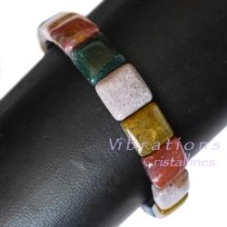 Bracelet en Jaspe Héliotrope