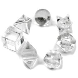 7 Solides de Platon en Cristal de Roche