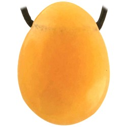 Pendentif Percé en Calcite Orange