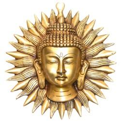 Masque Bouddha en Bronze