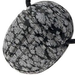 Pendentif Scarabée en Obsidienne Neige