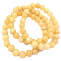 Bracelet Boules en Calcite Jaune