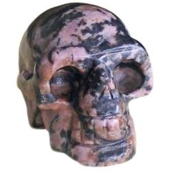 Crâne en Rhodonite