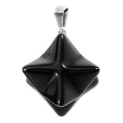 Pendentif Merkaba en Obsidienne Noire