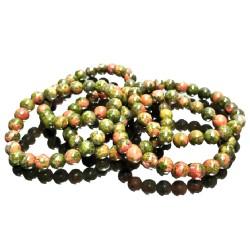 Bracelet Boules en Unakite