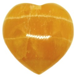 Coeur en Calcite Orange