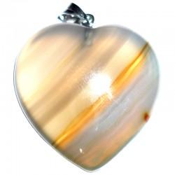 Pendentif Coeur en Agate