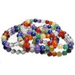 Bracelet Boules Multi-pierres
