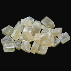 Calcite Optique Jaune Brute en Sachet