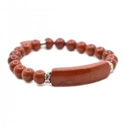 Bracelet Charme en Jaspe Rouge