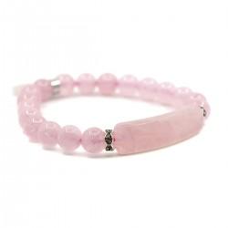 Bracelet Charme en Quartz Rose
